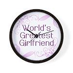 World's Greatest Girlfriend Wall Clock