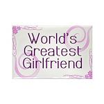 World's Greatest Girlfriend Rectangle Magnet