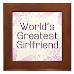 World's Greatest Girlfriend Framed Tile