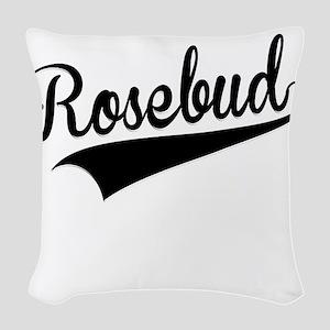 Rosebud, Retro, Woven Throw Pillow