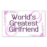 World's Greatest Girlfriend Rectangle Sticker