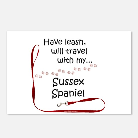 Sussex Travel Leash Postcards (Package of 8)