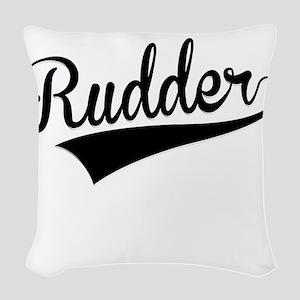 Rudder, Retro, Woven Throw Pillow
