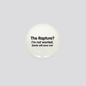 The Rapture vs. Santa Mini Button