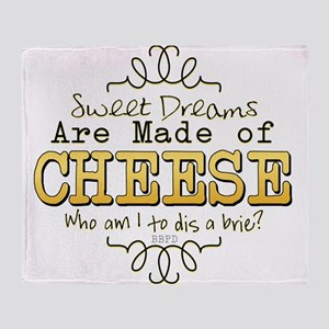 Dreams Made of Cheese Throw Blanket