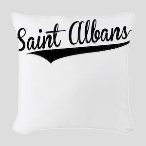 Saint Albans, Retro, Woven Throw Pillow