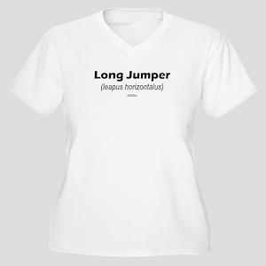 Latin Long Jump Women's Plus Size V-Neck T-Shirt