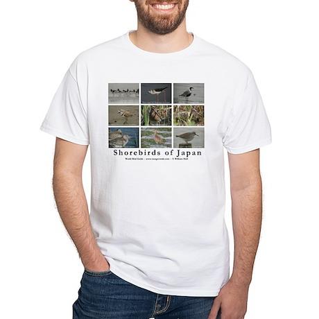 Shorebirds of Japan T-Shirt (white)