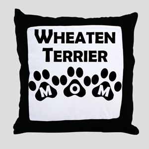 Wheaten Terrier Mom Throw Pillow