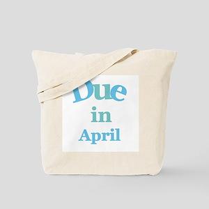 Blue Due in April Tote Bag