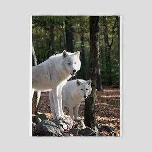 White Wolves Twin Duvet