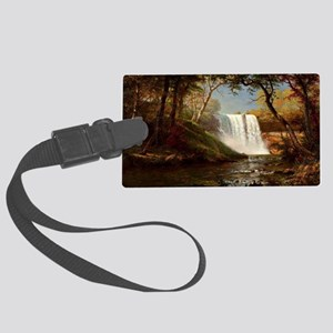 Minnehaha Falls, painting by Alb Large Luggage Tag