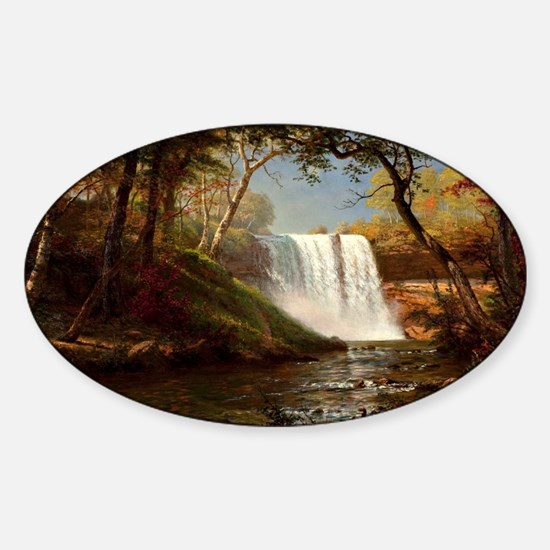 Minnehaha Falls, painting by Albert Sticker (Oval)