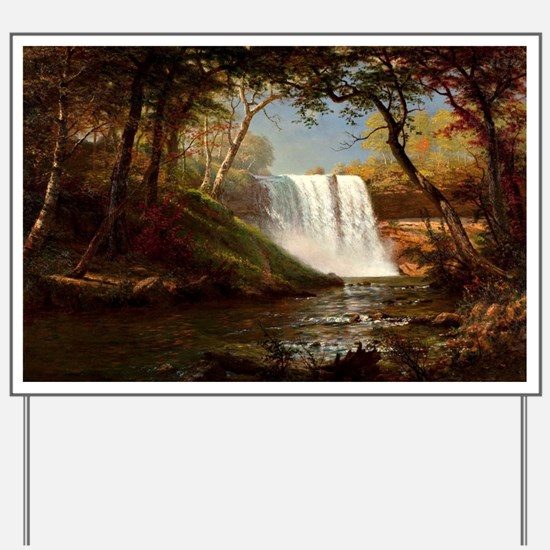 Minnehaha Falls, painting by Albert Bier Yard Sign