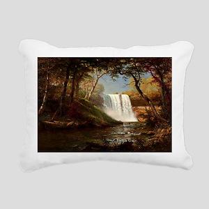Minnehaha Falls, paintin Rectangular Canvas Pillow