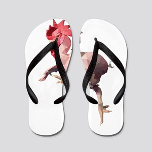 Naked Chicken (Low Poly) Flip Flops