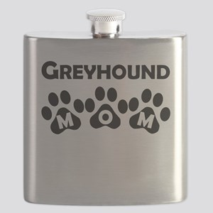 Greyhound Mom Flask