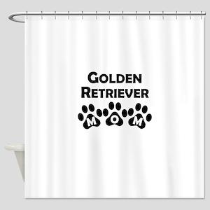 Golden Retriever Mom Shower Curtain