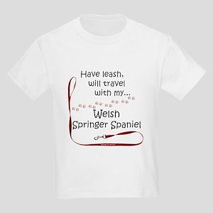 Welsh Springer Travel Leash Kids Light T-Shirt