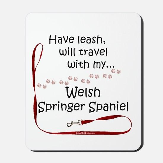 Welsh Springer Travel Leash Mousepad