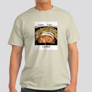 """I grilled!"" Ash Grey T-Shirt"