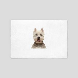 Dog (Low Poly) 4' x 6' Rug