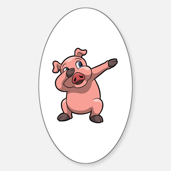 Cute Pigs Sticker (Oval)