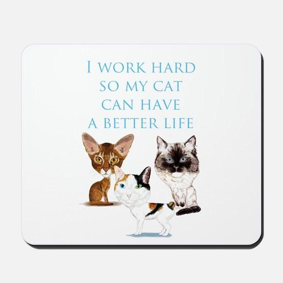 I Work Hard Mousepad