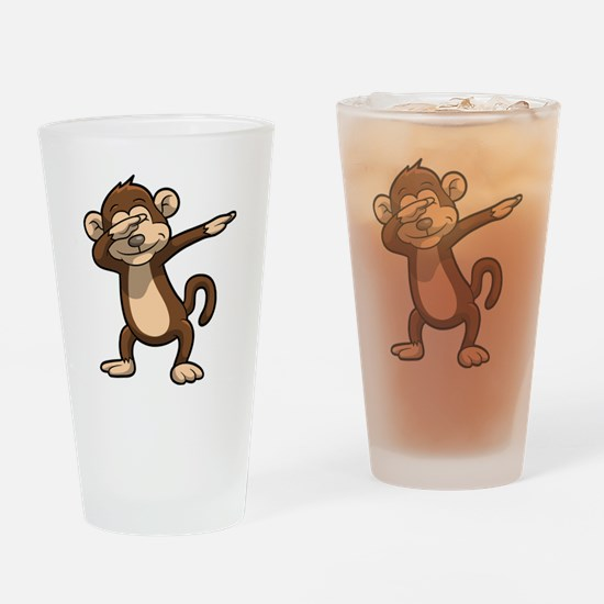 Cute Monkeys Drinking Glass