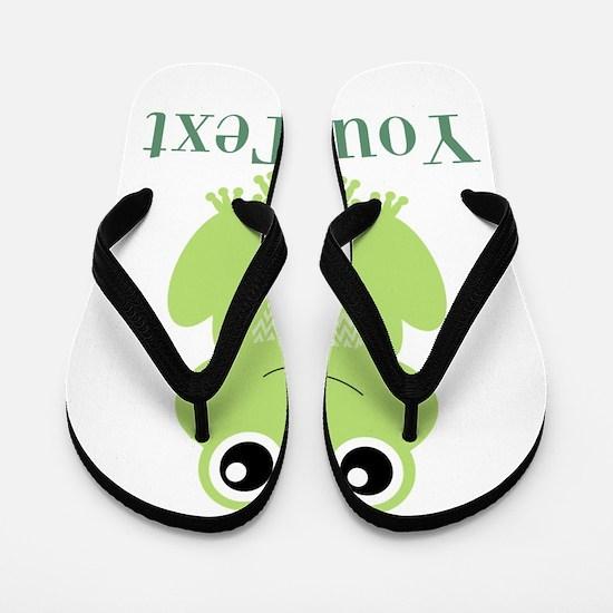 Personalizable Green Frog Flip Flops
