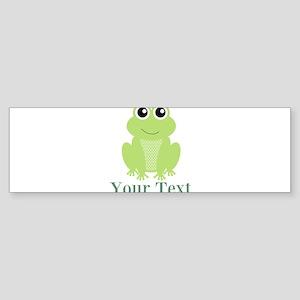 Personalizable Green Frog Bumper Sticker