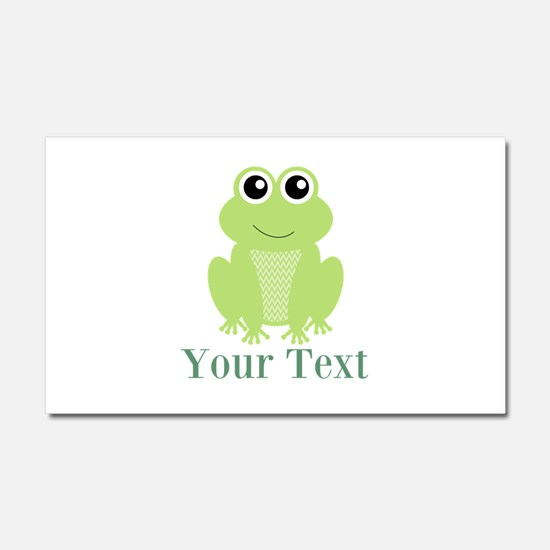 Personalizable Green Frog Car Magnet 20 x 12
