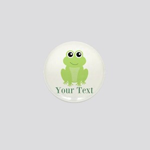Personalizable Green Frog Mini Button
