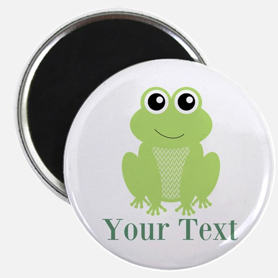 Personalizable Green Frog Magnets