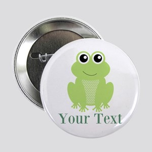 """Personalizable Green Frog 2.25"""" Button"""