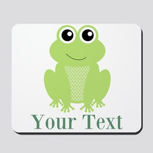 Personalizable Green Frog Mousepad