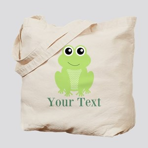 Personalizable Green Frog Tote Bag