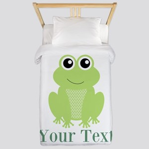 Personalizable Green Frog Twin Duvet