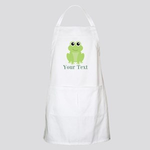 Personalizable Green Frog Apron