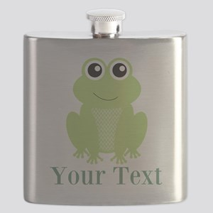 Personalizable Green Frog Flask