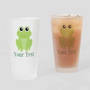 Personalizable Green Frog Drinking Glass
