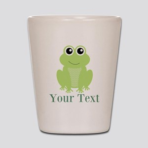 Personalizable Green Frog Shot Glass