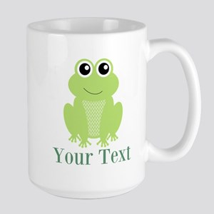 Personalizable Green Frog Mugs