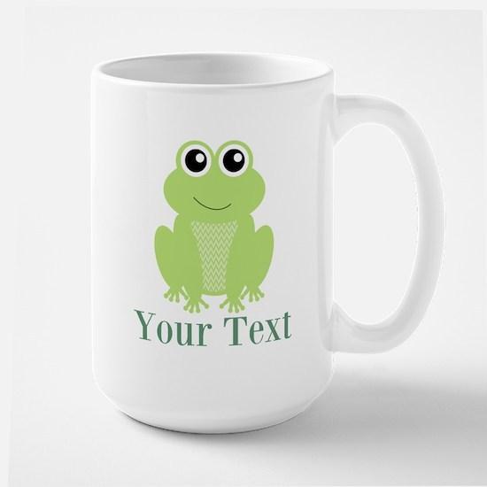 Personalizable Green Frog Mugs