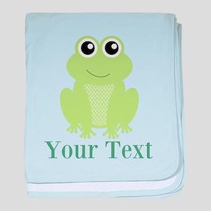 Personalizable Green Frog baby blanket