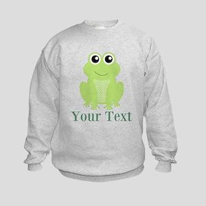 Personalizable Green Frog Sweatshirt