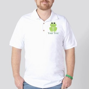 Personalizable Green Frog Golf Shirt