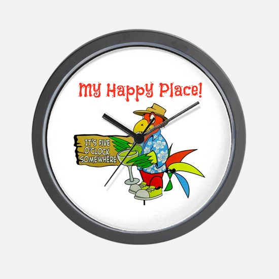 My Happy Place Wall Clock