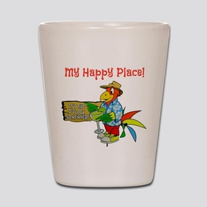 My Happy Place Shot Glass