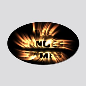 Burning Hunger Games 20x12 Oval Wall Decal